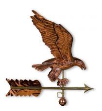 Dekorativní  měděná korouhvička orel