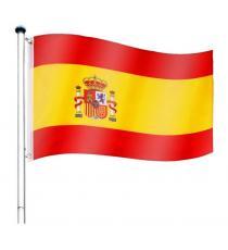 Vlajkový stožár vč. vlajky Španělsko - 650 cm