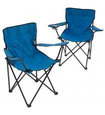 Sada 2 skládacích kempingových židlí - modré