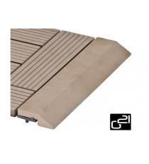 Přechodová lišta G21 pro WPC dlaždice indický teak, 30x7,5 cm rovná