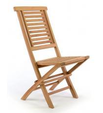 Zahradní židle skládací DIVERO &quot Hantown&quot  z masivního týkového dřeva