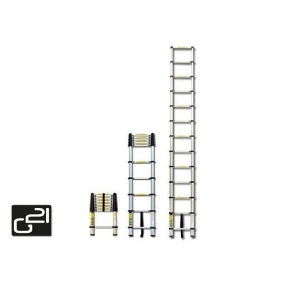 Teleskopický žebřík - hliníkový