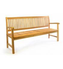 Zahradní lavice z masivního teaku DIVERO 3-místná