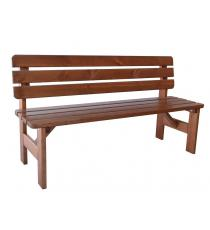 Zahradní dřevěná lavice Viking - 150 cm, lakovaná