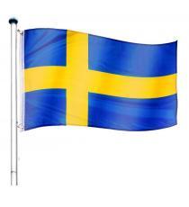 Vlajkový stožár vč. vlajky Švédsko - 650 cm