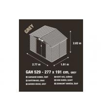 Zahradní domek G21 GAH 529 - 277 x 191 cm, šedý