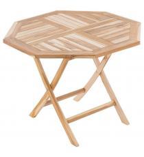DIVERO zahradní sklopný osmihranný stůl - 90 x 90 cm