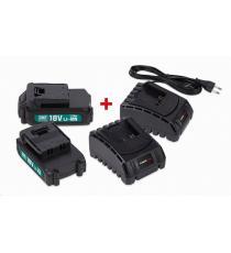 Powerplus sada, 2 x baterie + 2 x nabíječka
