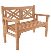 DIVERO dvoumístná sklopná lavice z týku