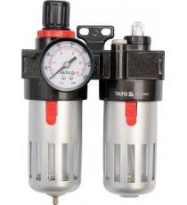 Regulátor tlaku vzduchu s filtrem a přimazáváním 1/4&quot