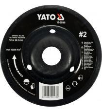 Rotační, úhlová, jemná rašple  - 125 mm, typ 2