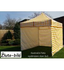 Zahradní párty stan PROFI STEEL 3 x 4,5 - žluto-bílá