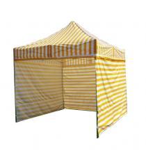 Zahradní párty stan PROFI STEEL 3 x 3 m - žluto-bílá