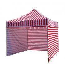 Zahradní párty stan PROFI STEEL 3 x 3 m - červeno-bílá
