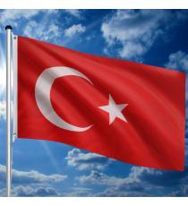 Vlajkový stožár vč. vlajky Turecko, 650 cm