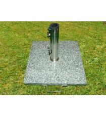 Stojan na deštníky slunečníky žula/nerezová ocel 25 kg