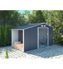 Zahradní domek LUKE A, 195 x 278 x 127 cm, šedý