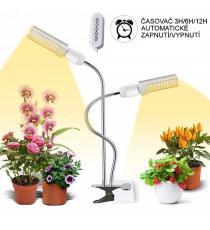 Domácí zahrádka s LED osvětlením, klipsnou a časovačem - 45W