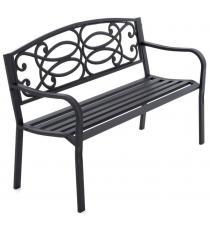 Zahradní kovová lavička ve starožitném stylu, 1270 x 855 mm