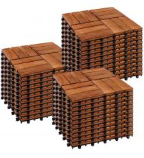 STILISTA dřevěné dlaždice, mozaika 3, akát, 3 m²