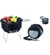Zahradní venkovní Kemping Grill BBQ + chladící taška